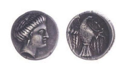 EUBEE, Chalcis (369-313). Drachme (3,67 g.)...