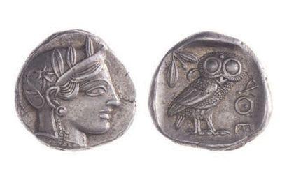 ATTIQUE, Athènes (vers 410 av.). Tétradrachme...