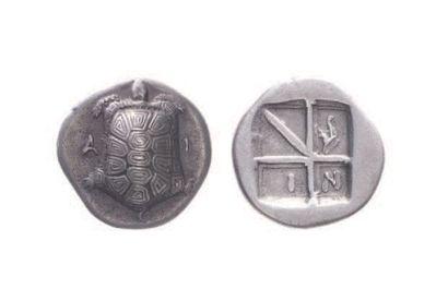 EGINE (404-350). Drachme (5,46 g.) à la tortue...