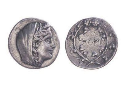 LES CYCLADES, Paros (300-100). Didrachme...