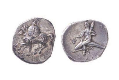 CALABRE, Tarente (281-272). Statère (6,50...