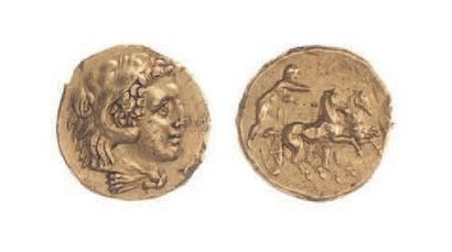 CALABRE, Tarente (281 av.). Hémistatère d'or...