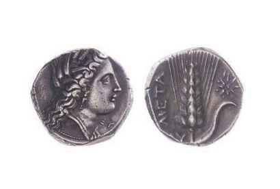 LUCANIE, Métaponte (350-330). Statère (7,90...