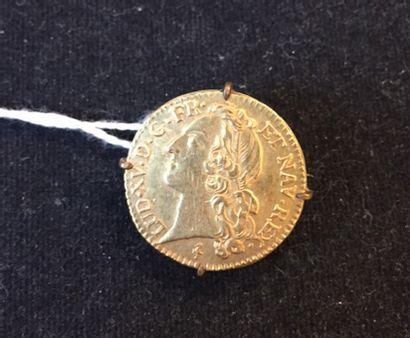 Louis d'or au bandeau, 1769. Monté en broche....
