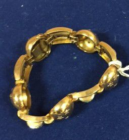 Bracelet articulé à décor d'étoiles en brillants/éclats...