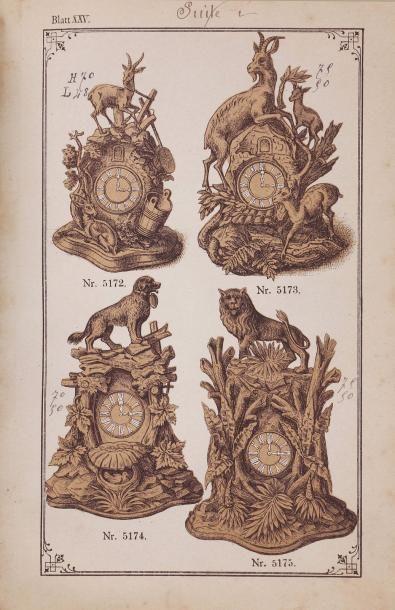 [HORLOGES COUCOU]. Deux catalogues d'horloges...