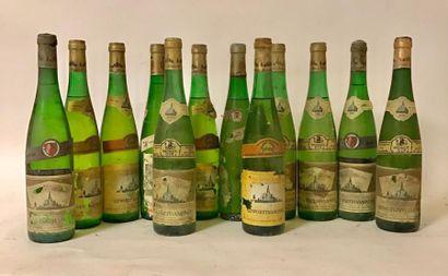 LOT de 12 bouteilles VINS BLANCS D'ALSACE:...