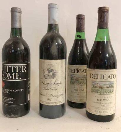 5 bouteilles VINS DE CALIFORNIE: 2 bouteilles...