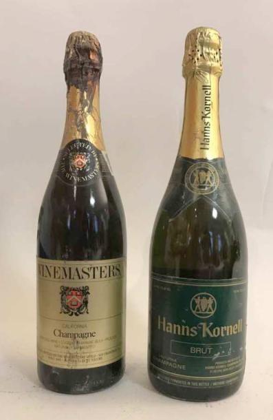 2 bouteilles VINS DE CALIFORNIE METHODE CHAMPENOISE:...