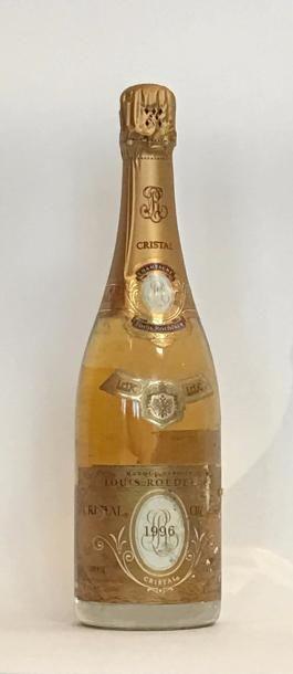 1 bouteille CHAMPAGNE CRISTAL ROEDERER 1996...