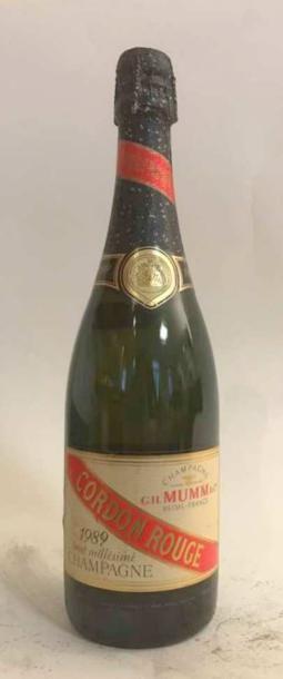 1 bouteille - CHAMPGNE MUMM Ccordon Rouge...