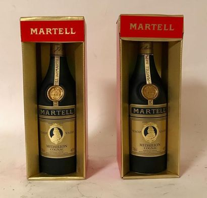 2 bouteilles COGNAC MARTELL VSOP Etuis d...