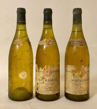 3 bouteilles MEURSAULT - L'HERITIER GUYOT...