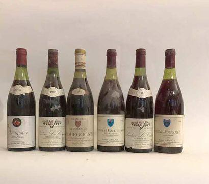 6 bouteilles VINS DIVERS DE BOURGOGNE: 1...