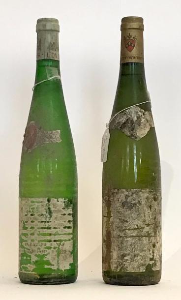 LOT DE 2 BOUTEILLESS VINS D'ALSACE:1 bouteille...