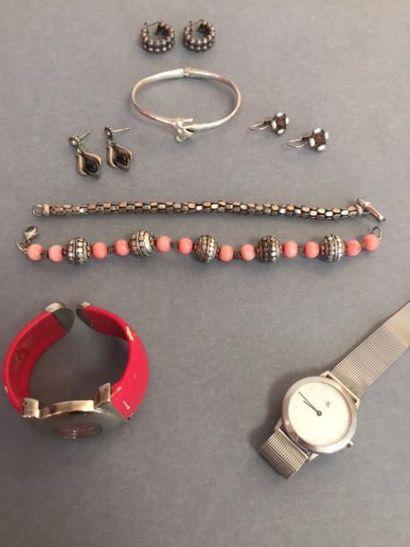 Lot de bijoux FANTAISIE dont argent 925°/°°:...