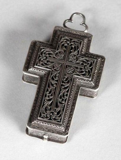 Montre en pendentif en forme de croix en...
