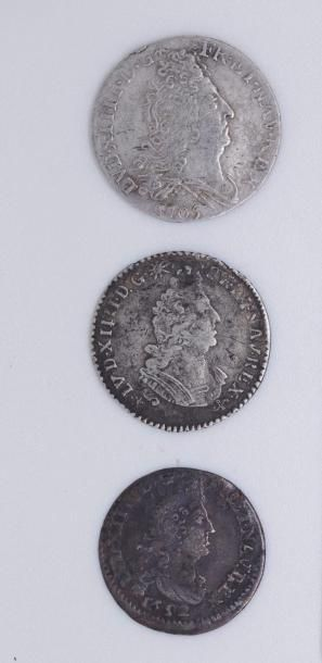 Louis XIV (1643-1715). Lot de 3 divisionnaires...