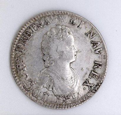 Louis XV (1715-1774). Ecu vertugadin; réformation....