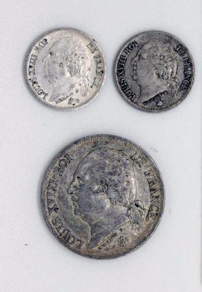Louis XVIII (1815-1824). 2 francs, 1822 Lille....