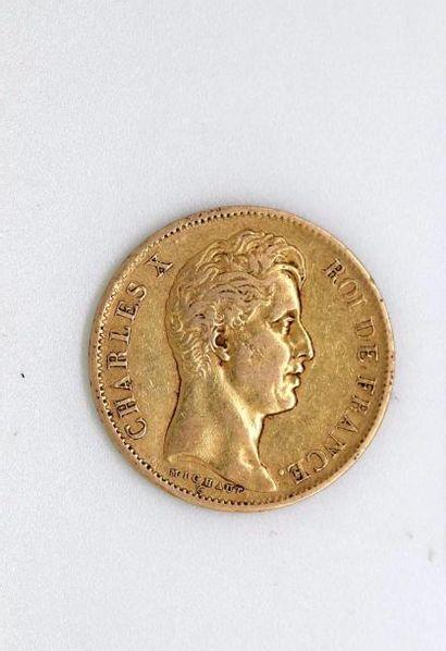 CHARLES X (1824-1830). 40 francs, 1828 Paris....