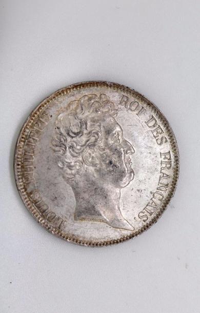 Louis-Philippe (1830-1848). 5 francs non...