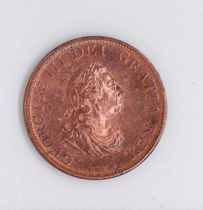 ANGLETERRE. Lot de douze pièces d'un penny...