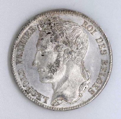 BELGIQUE. Léopold I (1831-1865). 5 francs,...
