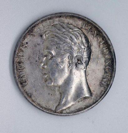 SACRE DE CHARLES X. Médaille d'argent. Lot...