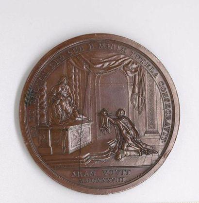 Louis XIII. Belle et grande frappe de bronze...