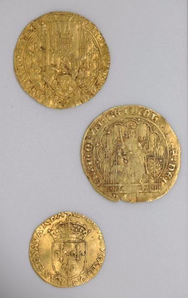 Philippe VI de VALOIS (1328-1356). Ecu d'or...