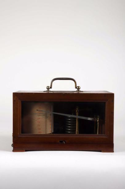 Baromètre enregistreur signé 'Ancienne M[ais]on...