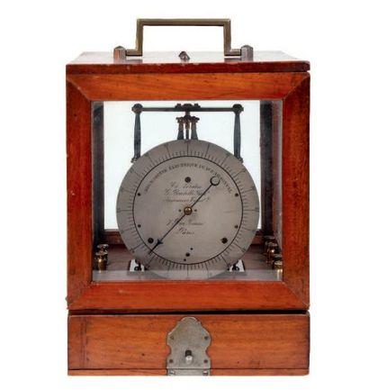 Chronomètre électrique de d'Arsonval signée...