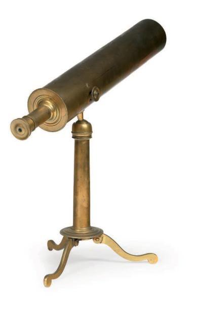 Télescope de salon en laiton, non-signé,...