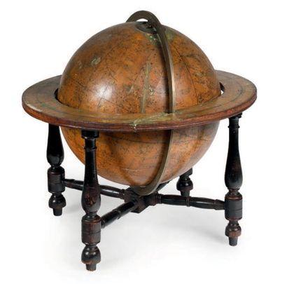 Globe de table céleste signé 'A new Celestial...
