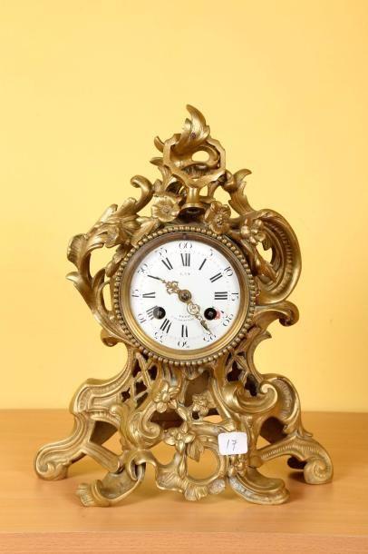 Pendule de cheminée en bronze de style 'Baroque'...
