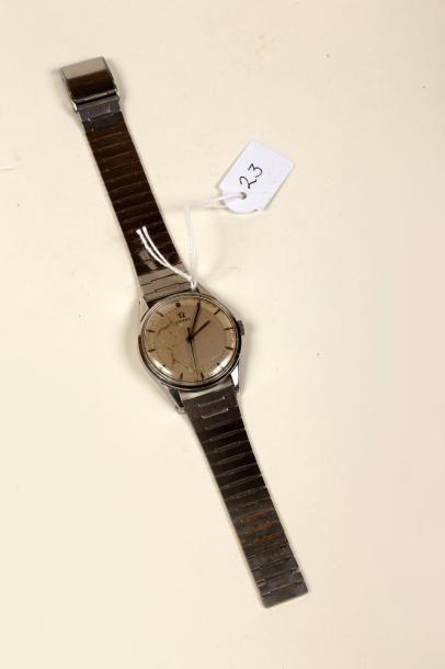 Montre-bracelet en acier 'Omega' avec secondes...