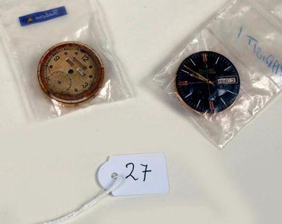 Deux mouvement de montre-bracelet dont un...