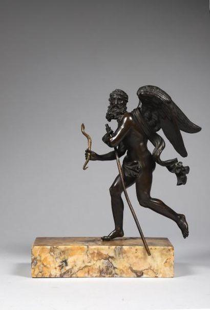 Statuette: H. 26,5 cm - Socle: 5 x 23 x 9,8...