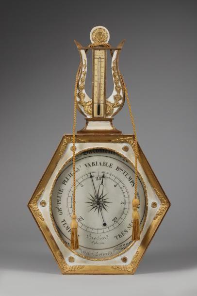 H.87 - I. 51 cm. Baromètre selon Torricelli,...