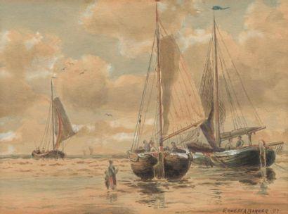 H.13 x 17 cm. Ernest A. BARKER, XIXème siècle....