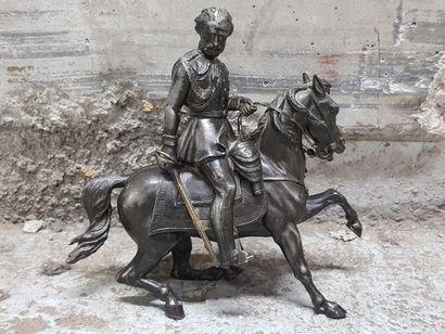H.21 - L. 20 cm. Victor Emmanuel, Duc de...