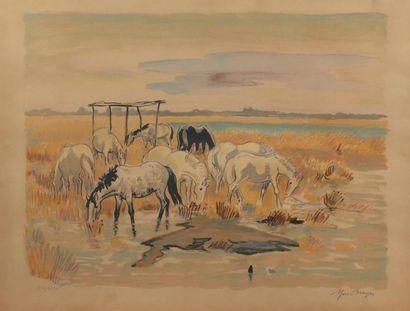 H.57, 5 x 76 cm. Yves BRAYER 1907 - 1990....