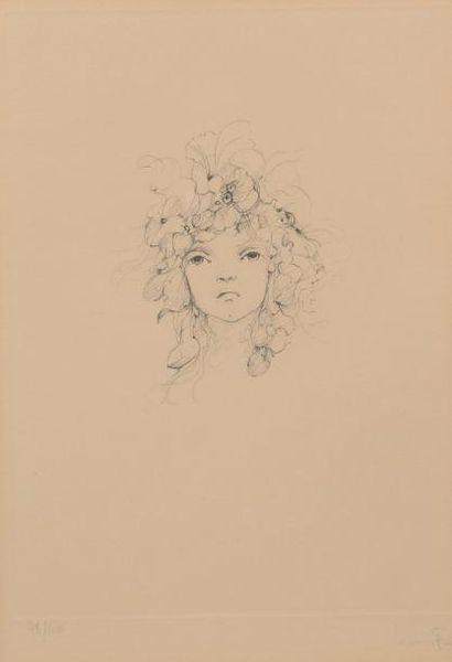 H.23,5 x 17,5 cm. Leonor FINI 1907 - 1996....