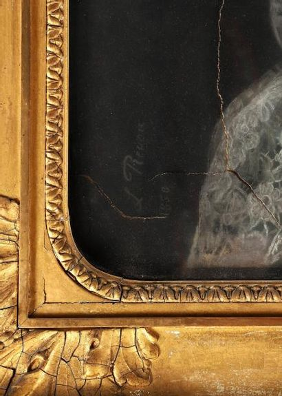 H.112 x 90 cm. REVON Louise, active entre 1849 et 1876. Portrait de Monsiegneur...