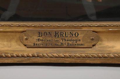 H.125 x 95 cm. REVON Louise, active entre 1849 et 1876. Portrait de Don Bruno, secrétaire...