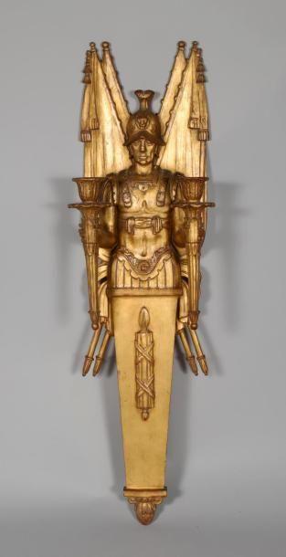 H.95 x 27 cm- Applique en bois de résineux...