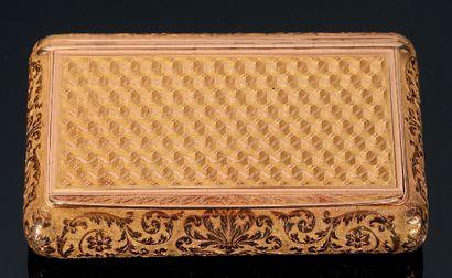 Boîte tabatière en or de forme resctangulaire....