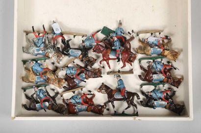 CBG Troisième République: Douze Chasseurs à cheval au défilé.