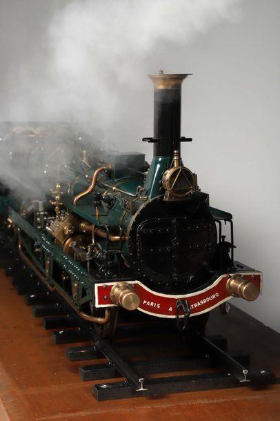 Maquette, à l'échelle 1/10, d'une locomotive...